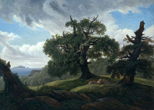 Memory of a Wooded Island in the Baltic Sea(also known as Oak Trees by the Sea) | Carl Gustav Carus | Oil Painting