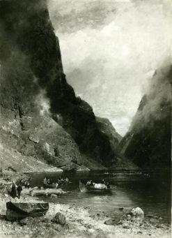 Gudvangen in Norway | Georg Anton Rasmussen | Oil Painting