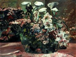 Flower Basket with Amaryllis and Kalla | Lovis Corinth | Oil Painting
