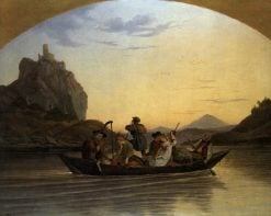 Crossing the Elbe at Aussig | Ludwig Richter | Oil Painting