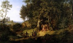 Bridal procession in a Spring Landscape | Ludwig Richter | Oil Painting