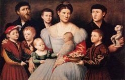 Portrait of Arrigo Licinio and His Family | Bernardino Licinio | Oil Painting