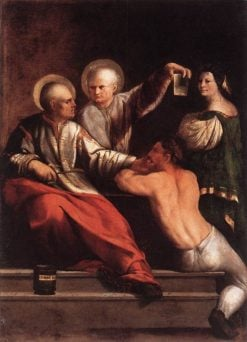 Saints Cosmas and Damian | Dosso Dossi | Oil Painting