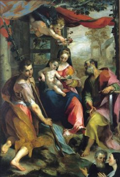 Madonna and Child with Saints Simon and Thaddeus(also known as Madonna of San Simone) | Federico Barocci | Oil Painting