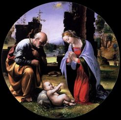 The Virgin and Saint Joseph Adoring the Christ Child - Tondo | Fra Bartolomeo | Oil Painting