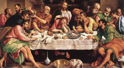Last Supper   Jacopo Bassano   Oil Painting