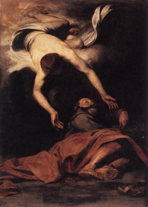 Saint Peter Freed from Prison | Pier Francesco Mola | Oil Painting