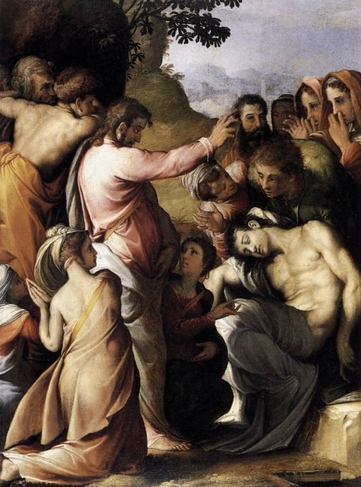 The Raising of Lazarus | Francesco Salviati | Oil Painting