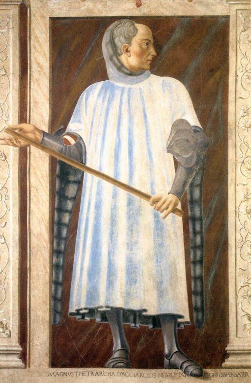 Famous Men ~ Niccolò Acciaiuoli   Andrea del Castagno   Oil Painting