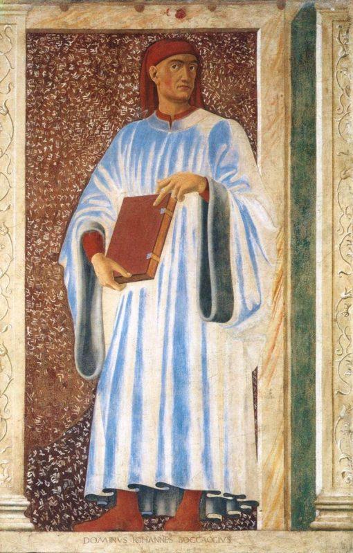 Famous Men ~ Giovanni Boccaccio | Andrea del Castagno | Oil Painting
