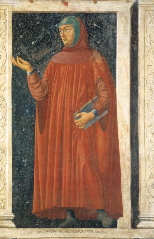 Famous Men ~ Francesco Petrarca | Andrea del Castagno | Oil Painting