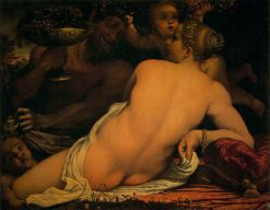 Venus with a Satyr and Cupids | Annibale Carracci | Oil Painting