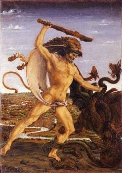 Hercules and the Hydra | Antonio del Pollaiuolo | Oil Painting