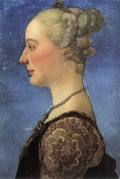 Portrait of a Young Woman   Antonio del Pollaiuolo   Oil Painting