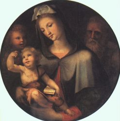 The Holy Family with a Young Saint John the Baptist | Domenico Beccafumi | Oil Painting