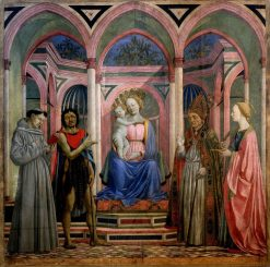 Madonna and Child with Saints (Saint Lucy Altarpiece) | Domenico Veneziano | Oil Painting