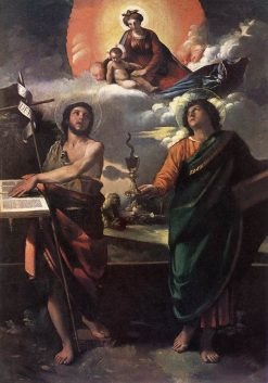The Virgin Appearing to Saints John the Baptist and John the Evangelist | Dosso Dossi | Oil Painting
