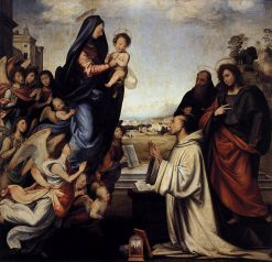 The Vision of St Bernard with the Saints Benedict and John the Baptist   Fra Bartolomeo   Oil Painting