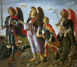 Tobias and the Three Archangels | Francesco Botticini | Oil Painting