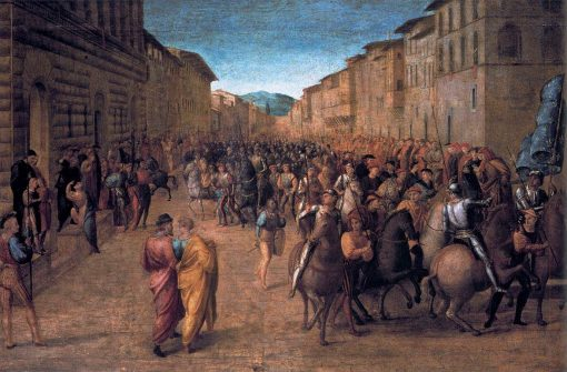Entry of Charles VIII into Florence | Francesco Granacci | Oil Painting