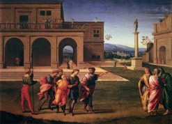 Joseph Conducted to Prison   Francesco Granacci   Oil Painting