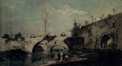 Town with a Bridge | Francesco Guardi | Oil Painting