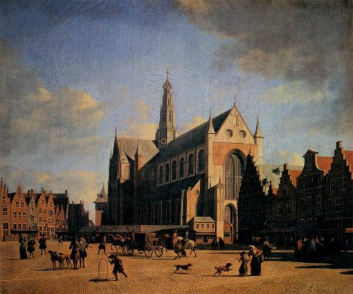 The Great Market in Haarlem | Gerrit Adriaensz.Berckheyde | Oil Painting