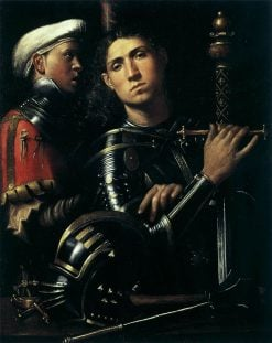 Portrait of a Warrior with His Equerry | Giorgione | Oil Painting