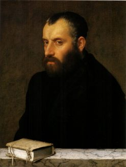 Portrait of a Man with a Book | Giovanni Battista Moroni | Oil Painting