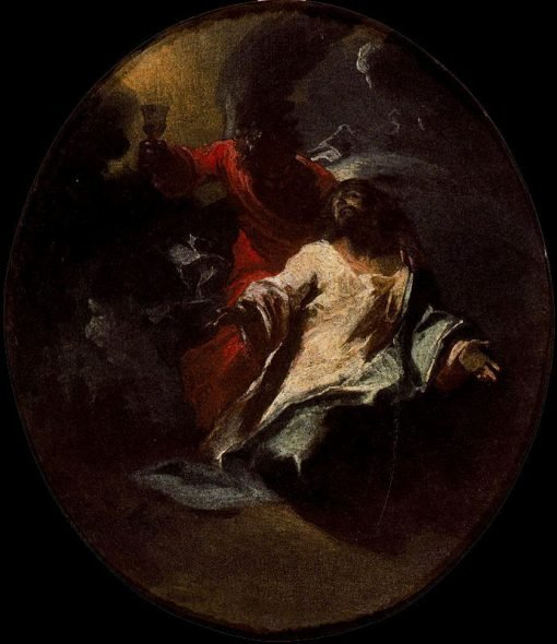The Agony of Christ in the Garden | Giuseppe Bazzani | Oil Painting