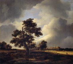 Landscape with Shepherds and Peasants | Jacob van Ruisdael | Oil Painting