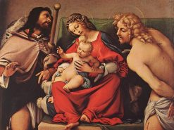 Madonna and Child with Saints Roch and Sebastian | Lorenzo Lotto | Oil Painting