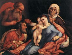 Madonna and Child with Saints | Lorenzo Lotto | Oil Painting