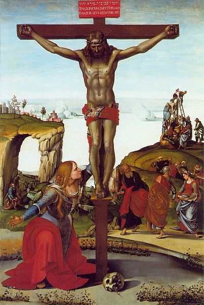 Crucifixion with Mary Magdalene | Luca Signorelli | Oil Painting