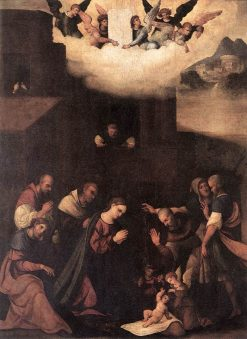 Adoration of the Shepherds | Ludovico Mazzolino | Oil Painting