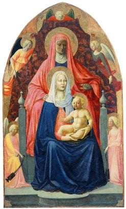 The Virgin and Child with Saint Anne and Angels | Masaccio | Oil Painting