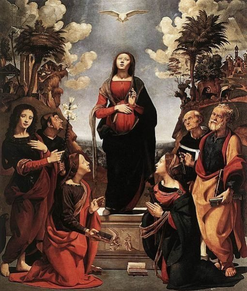 Immaculate Conception with Saints(also known as The Incarnation of Jesus) | Piero di Cosimo | Oil Painting