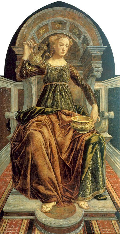 Temperance   Piero Pollaiuolo   Oil Painting