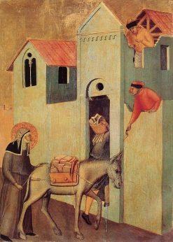 Beata Umilta Altarpiece: Beata Umilta Transports Bricks to the Monastery | Pietro Lorenzetti | Oil Painting