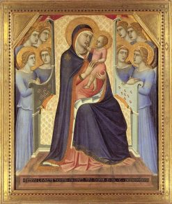 Madonna Enthroned with Angels | Pietro Lorenzetti | Oil Painting
