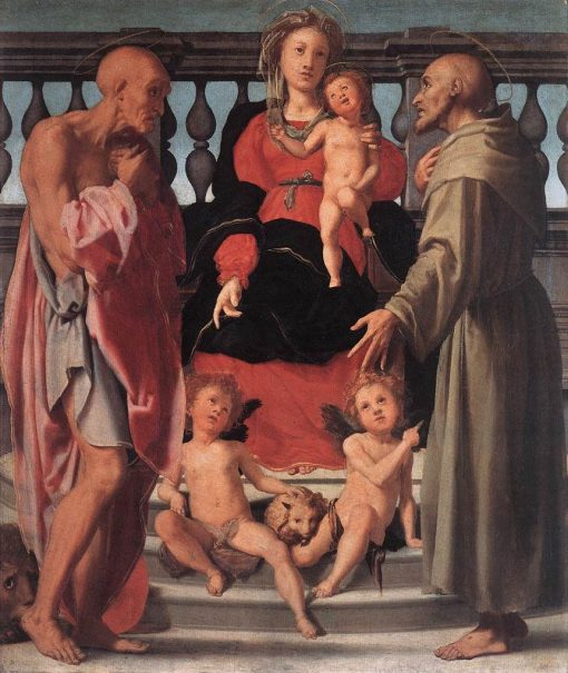 Madonna and Child with Two Saints | Pontormo | Oil Painting