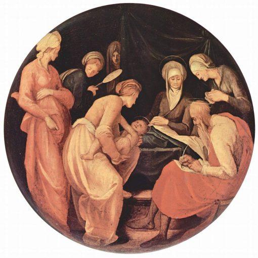 Nativity(also known as Nativita del battista)   Pontormo   Oil Painting