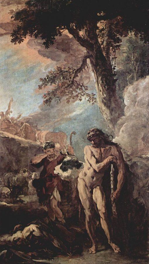 Hercules and the Centaur (study for decorations at Palazzo Marucelli-Fenzi) | Sebastiano Ricci | Oil Painting