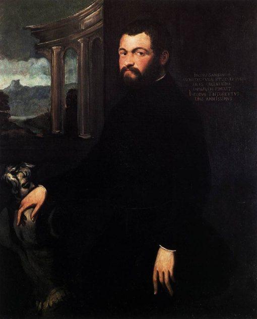 Portrait of Jacopo Sansovino   Tintoretto   Oil Painting