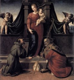 Virgin and Child with Saints Francis and Zenobius | Francesco Granacci | Oil Painting