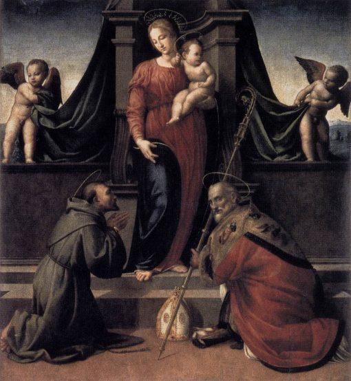 Virgin and Child with Saints Francis and Zenobius | Francesco Granacci | Oil Painting