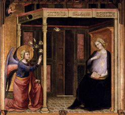 Annunciation   Master of the Straus Madonna   Oil Painting