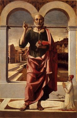 Saint Peter Blessing with a Donor | Bartolomeo Montagna | Oil Painting
