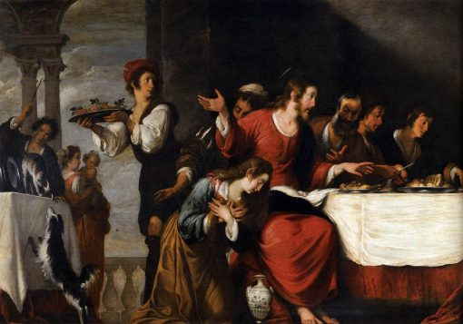 Banquet at the House of Simon (detail) | Bernardo Strozzi | Oil Painting