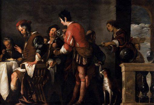 Banquet at the House of Simon (detail) | Bernardo Strozzi | Oil Painting